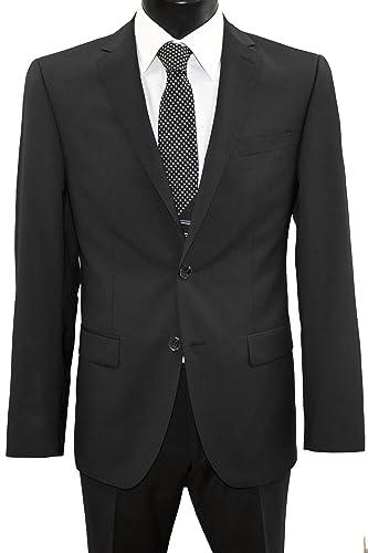 DANIEL HECHTER 2-Knopf-Anzug mit feinen Streifen in anthrazit
