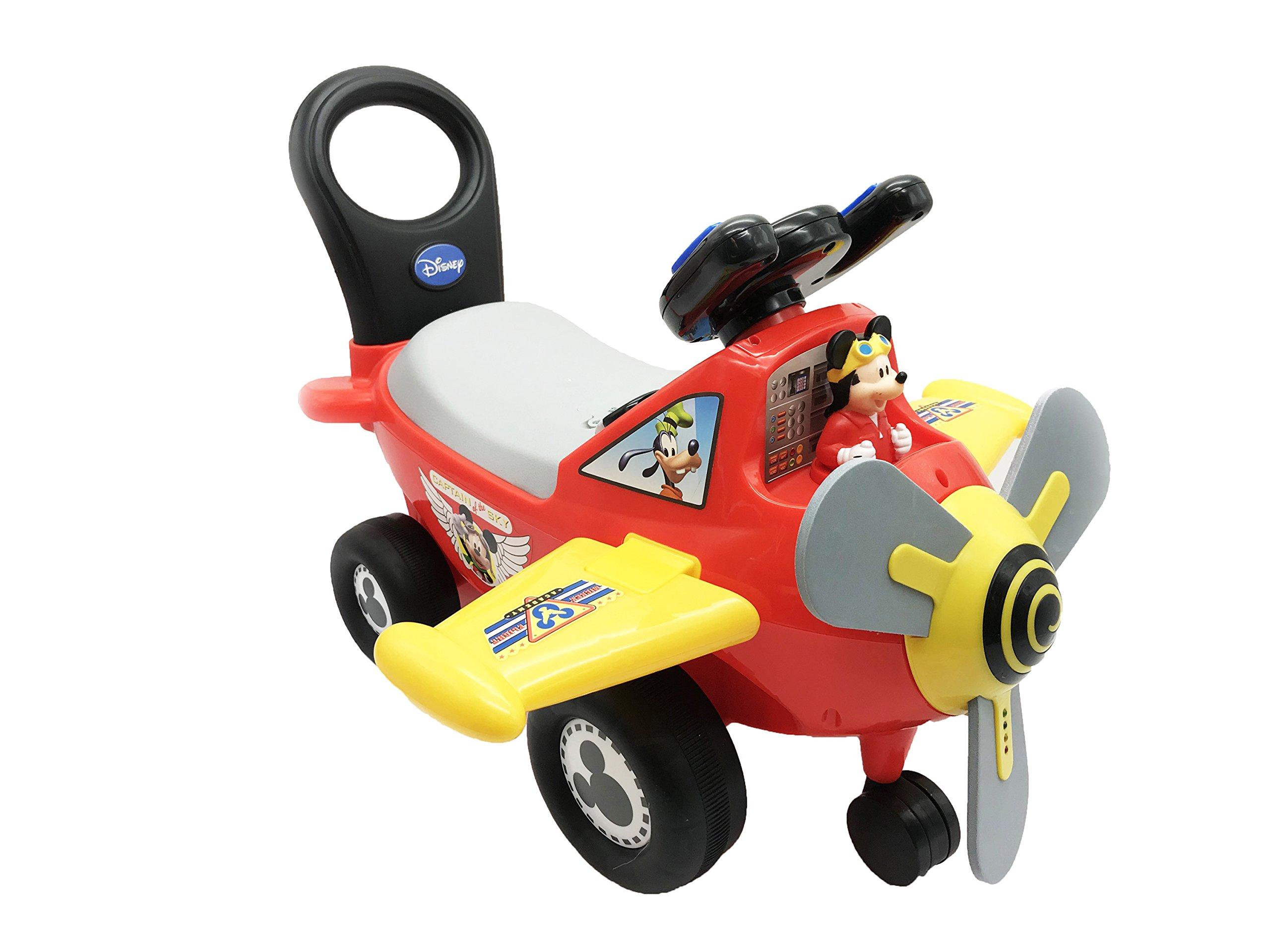 Kiddieland Disney Mickey Mouse Plane Light & Sound Activity Ride-On by Kiddieland Toys Limited