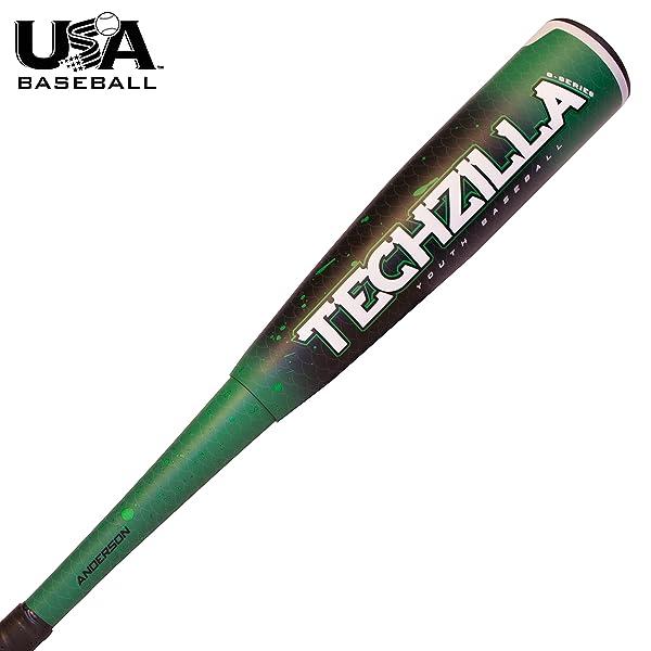 2018 Anderson Techzilla S-Series (-9) Hybrid Youth Baseball Bat (USABat)