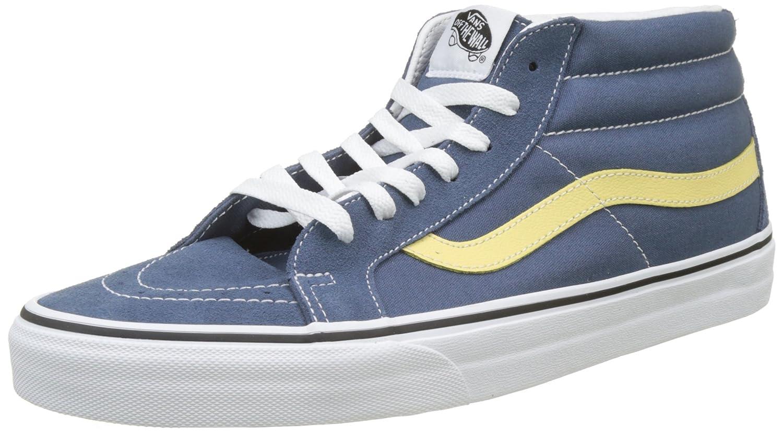 Vans Sk8-Mid Reissue, Sneaker a Collo Alto Unisex – Adulto Blu (Vintage Indigo/Pineapple Slice Q8d)