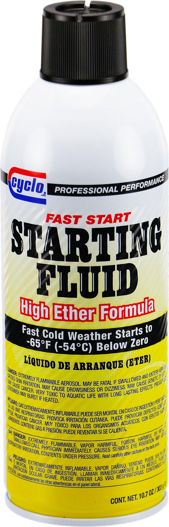 Niteo Cyclo Fast Start Starting Fluid, High Ether Formula, 10.7 fl oz, Case of 12 by Niteo
