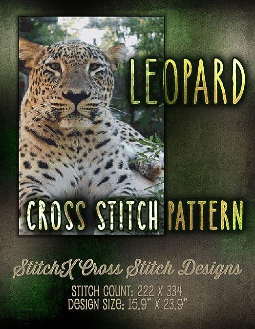Amazon.com: Leopard Cross Stitch Pattern - Stunning Big Jungle Cat ...