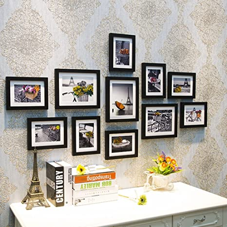 Amazoncom Mago Picture Frames Set Of 11 Photo Frames Living Room