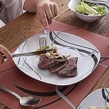 VEWEET 24-Piece Porcelain Dinnerware Sets Black