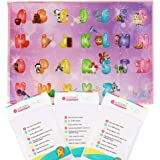 Disposable Placemats for Baby by LHM, EXTRA LARGE, Extra sticky 60 Pack Food Mats For Kitchen, Home, Restaurants, ABC Table Mats For Kids Babies - Antistatic, Eco-Friendly and Non-BPA