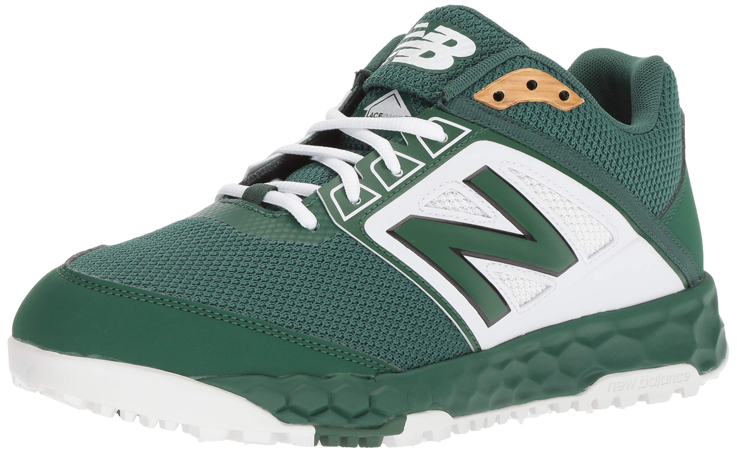 New Balance Men's 3000v4 Turf Baseball Shoe, Green/White, 5 D US