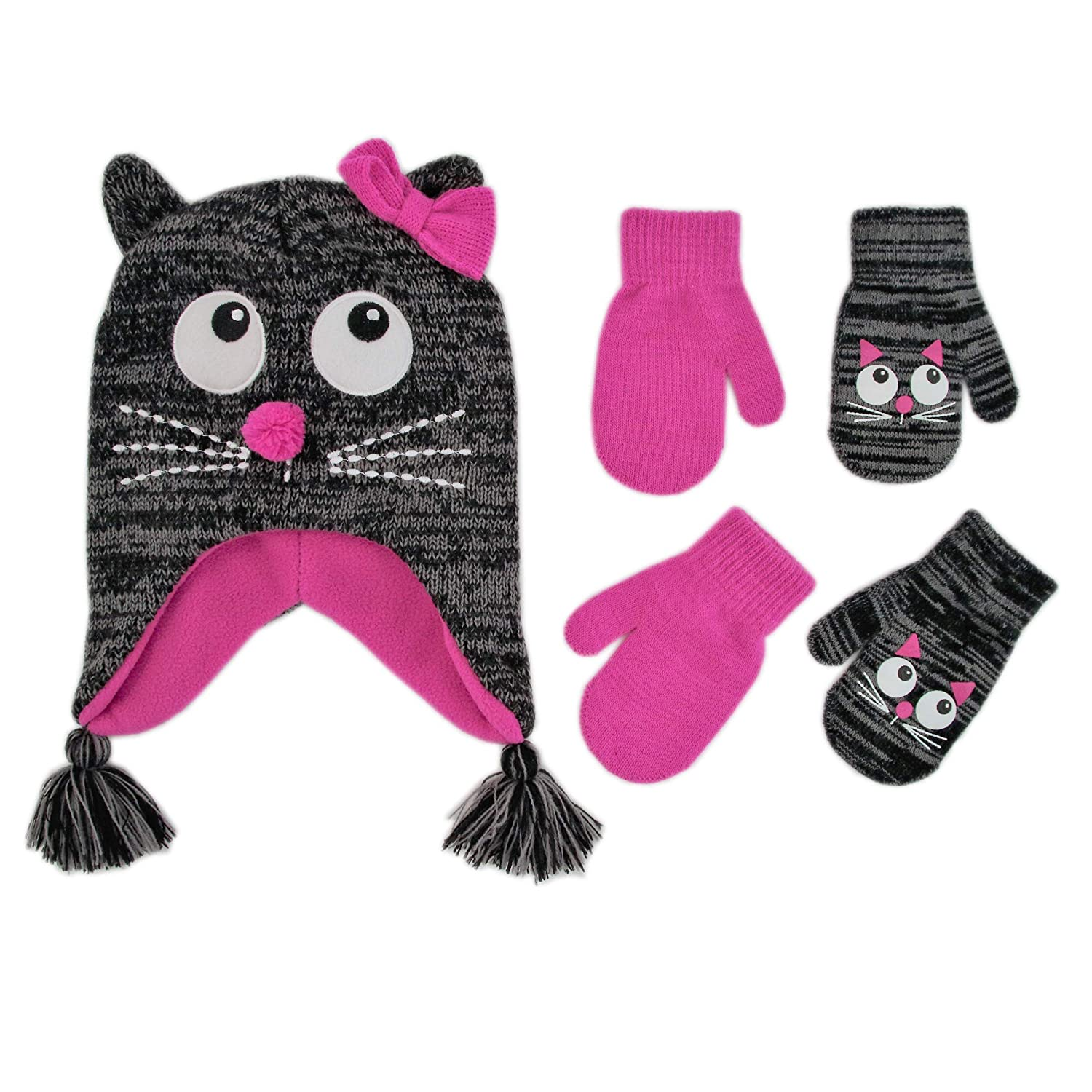 972c6a855 ABG Accessories Assorted Critter Designs Hat and 2 Pair Gloves or ...