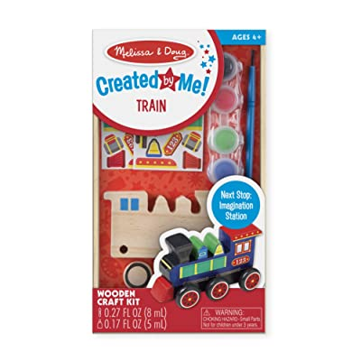 Melissa & Doug Decorate-Your-Own Wooden Train Craft Kit, Standard Packaging: Melissa & Doug: Toys & Games