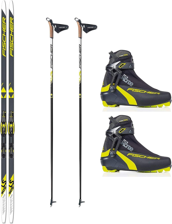 Fischer LS - Juego de esquís de Fondo + Fijaciones + Zapatos + Bastones