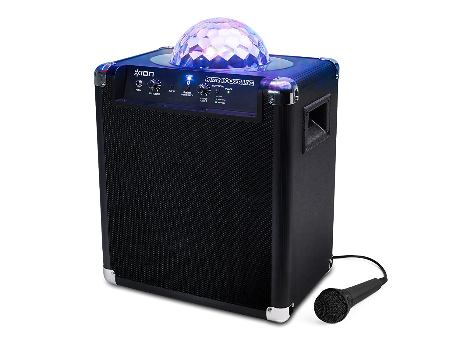 ION Audio Party Rocker Live - Altavoz Bluetooth con luces de fiestas controladas a través de su App y micrófono inMusic Europe Limited IPA25