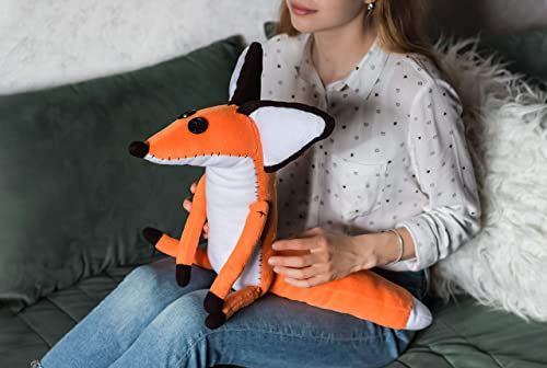 Amazon Com The Little Prince Fox Le Petite Prince Fox Handmade Plush Toy For Children Soft And Cuddly Mr Fox 13 3 In Handmade