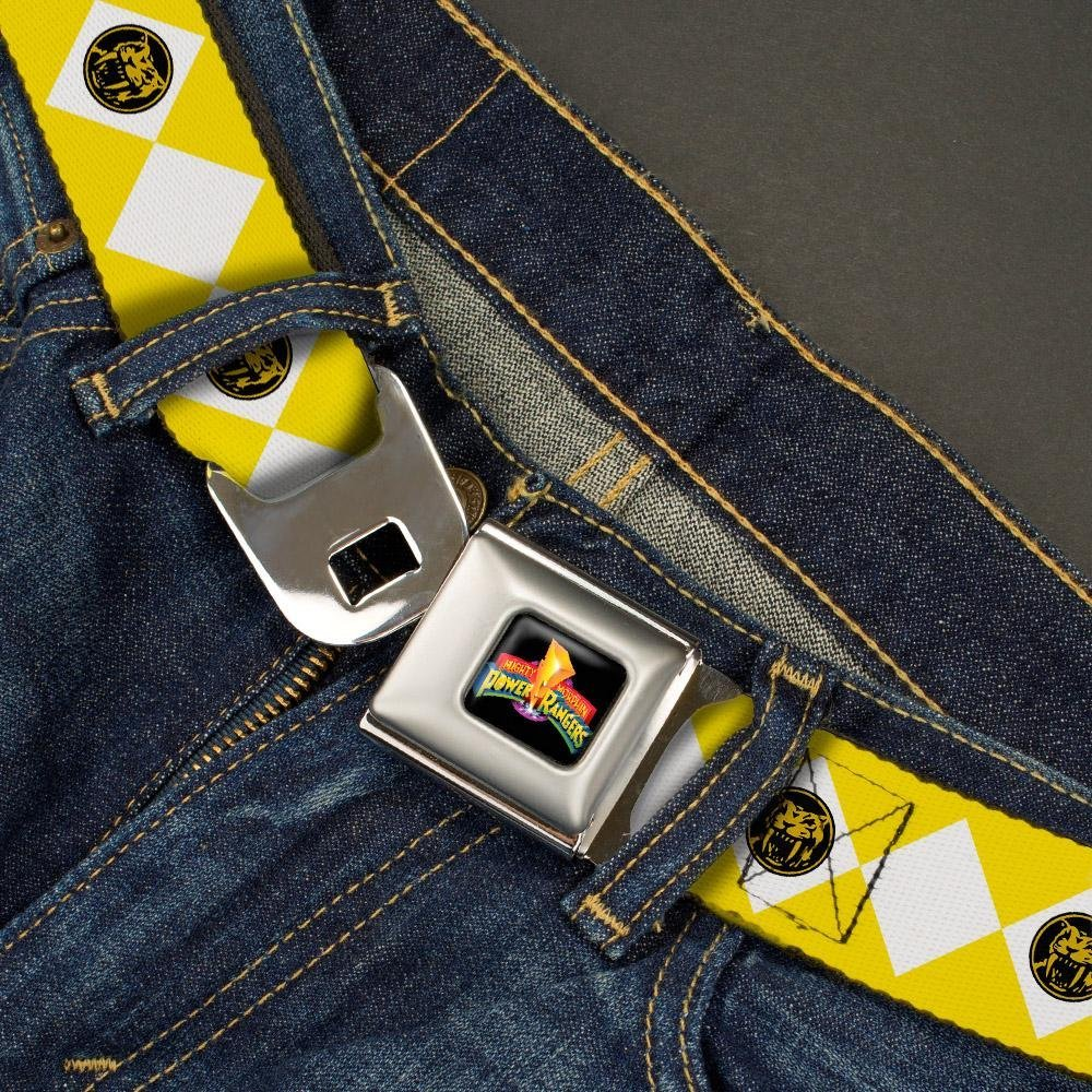 Diamond Yellow Ranger 20-36 Inches in Length Buckle-Down Seatbelt Belt 1.0 Wide