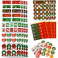 Gudotra 296 pcs Pegatina Navidad Etiqueta Adhesiva Decoracion