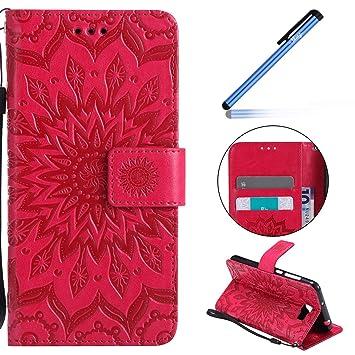 YSIMEE Funda Huawei Y5 II,Carcasa Libro de Cuero con Tapa ...