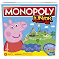 Hasbro Gaming Monopoly Junior: Peppa Pig Edition Board Game for 2-4 Players, Indoor Game for Kids Ages 5 and Up (Amazon Exclu