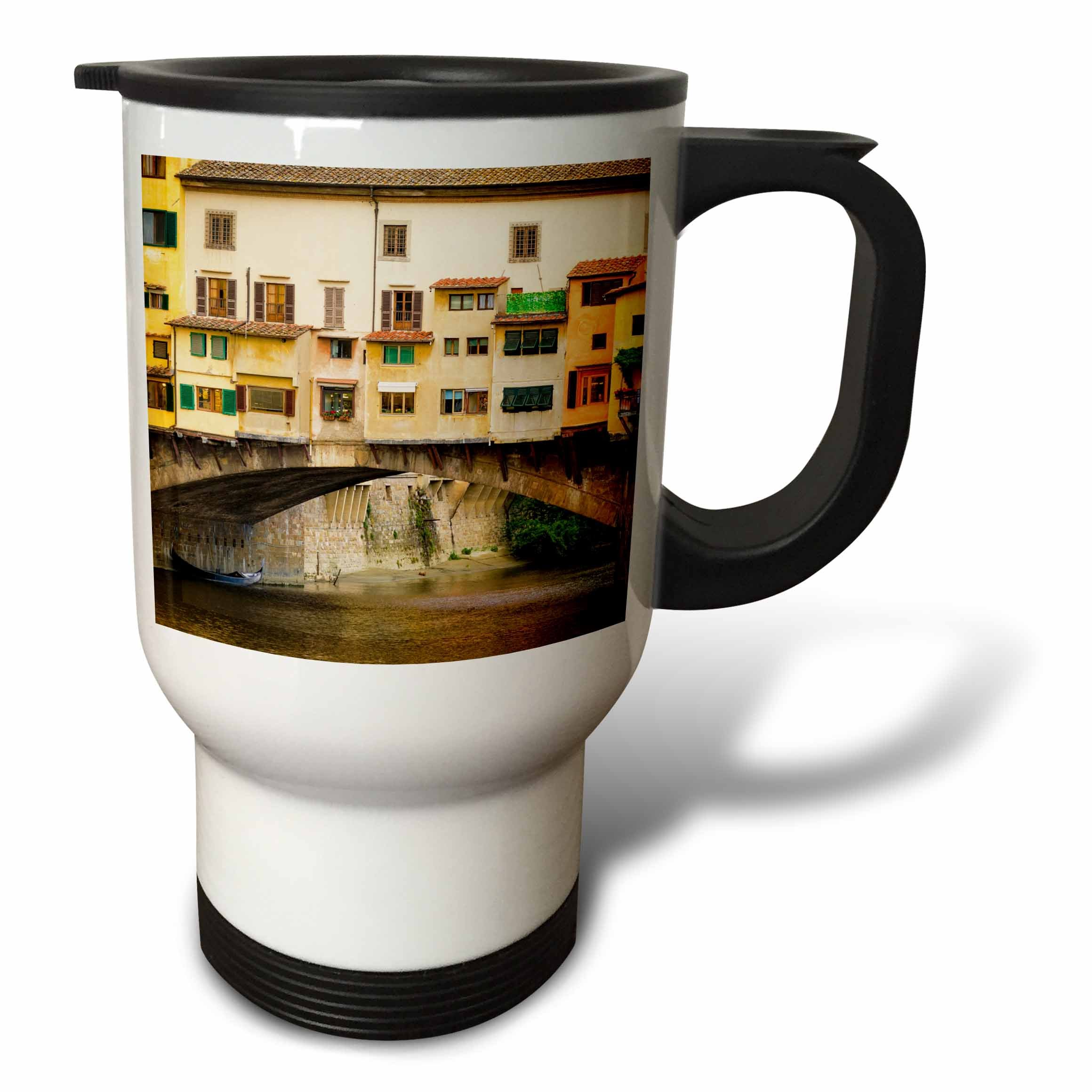 3dRose Danita Delimont - Cities - Shop windows and shutters, Ponte Vecchio, Florence, Tuscany, Italy - 14oz Stainless Steel Travel Mug (tm_277636_1)