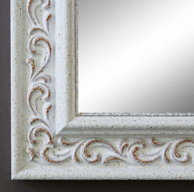 Online Galerie Bingold Spiegel Wandspiegel Badspiegel Flurspiegel Garderobenspiegel - Über 200 Größen - Verona Weiß 4,4 - Außenmaß des Spiegels 40 x 60 - Wunschmaße auf Anfrage - Modern
