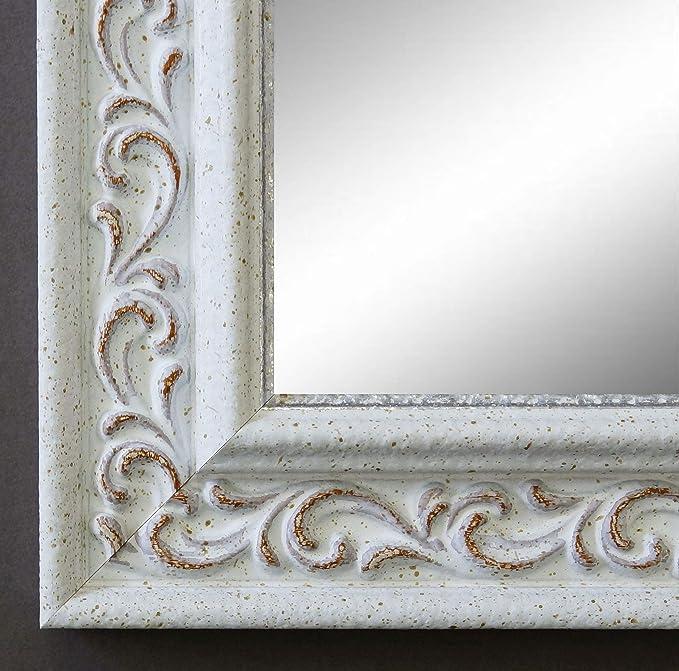 Spiegel Wandspiegel Badspiegel Flurspiegel Garderobenspiegel - Über 200 Größen - Verona Weiß 4,4 - Größe des Spiegelglases DI