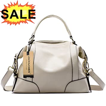 0a054db7d5d2 Jack Chris®Ladies  Genuine Leather Tote Bag Handbag Shoulder Bag Large