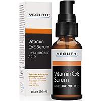 YEOUTH Vitamin C och E Day Serum med hyaluronsyra, anti-åldrande hudvårdsprodukt/anti-rynk serum fyller fina linjer…