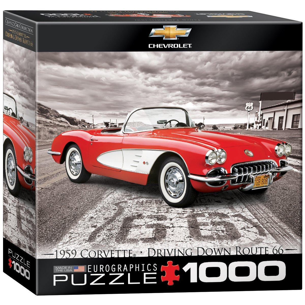Eurographics Toys 8000-0665 1000-Piece EuroGraphics 1959 Corvette Jigsaw Puzzle Small Box