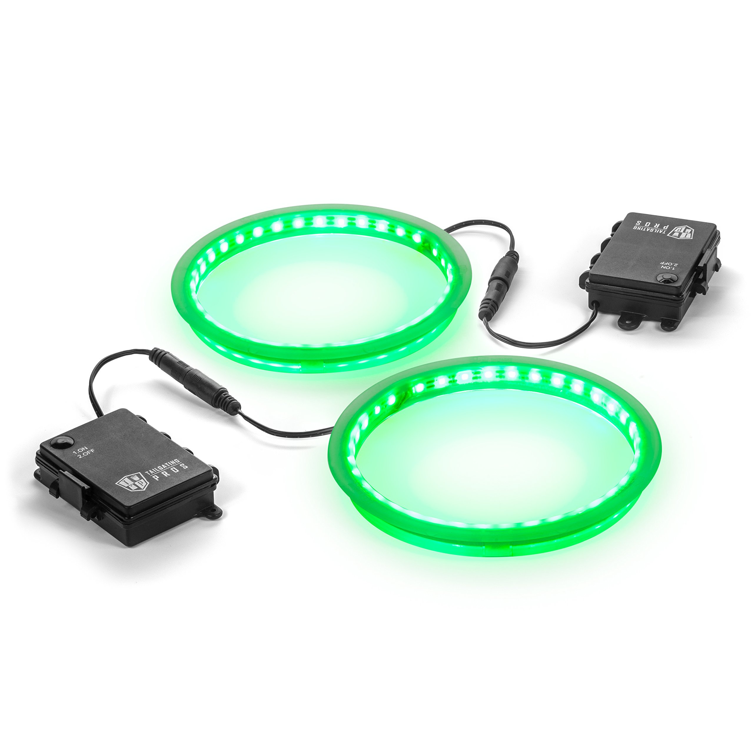 Tailgating Pros Premium 36 LED Cornhole Light Ring Set - 6 Color Options + Multicolored (Green)