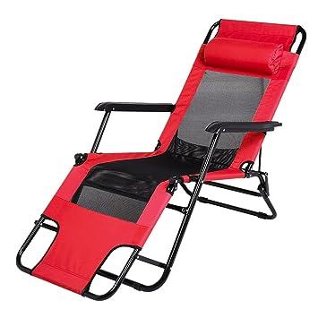 Qulista Chaise Longue Pliante Portable 1200D Toile DOxford Respirant Confortable Reglable Multiposition Camping