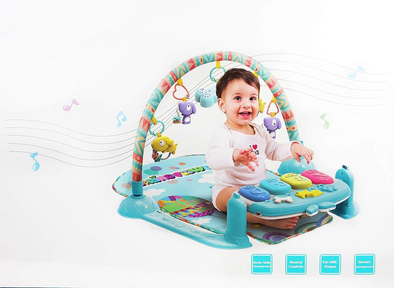 NBDピアノベビージムforベビー男の子と女の子、キーボードサウンド、ソフトSitting Mat and Hanging Kick and Pull Toys。   B07CQ8Q3XN