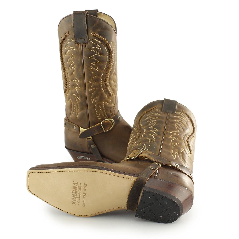 16ed9c6f8e8 Sendra 3434 Mens Leather Mid Calf Cowboy Boots Mad Dog Tan: Amazon ...