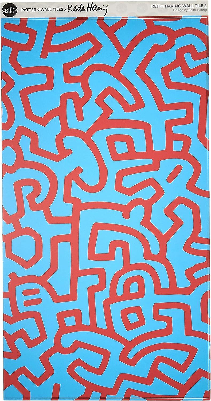 Amazon Co Jp キースヘリング Blik ブリック プロ仕様 ウォールステッカーkeith Haring パターンウォールタイル Pattern Wall Tiles ブルー レッド ベビー マタニティ