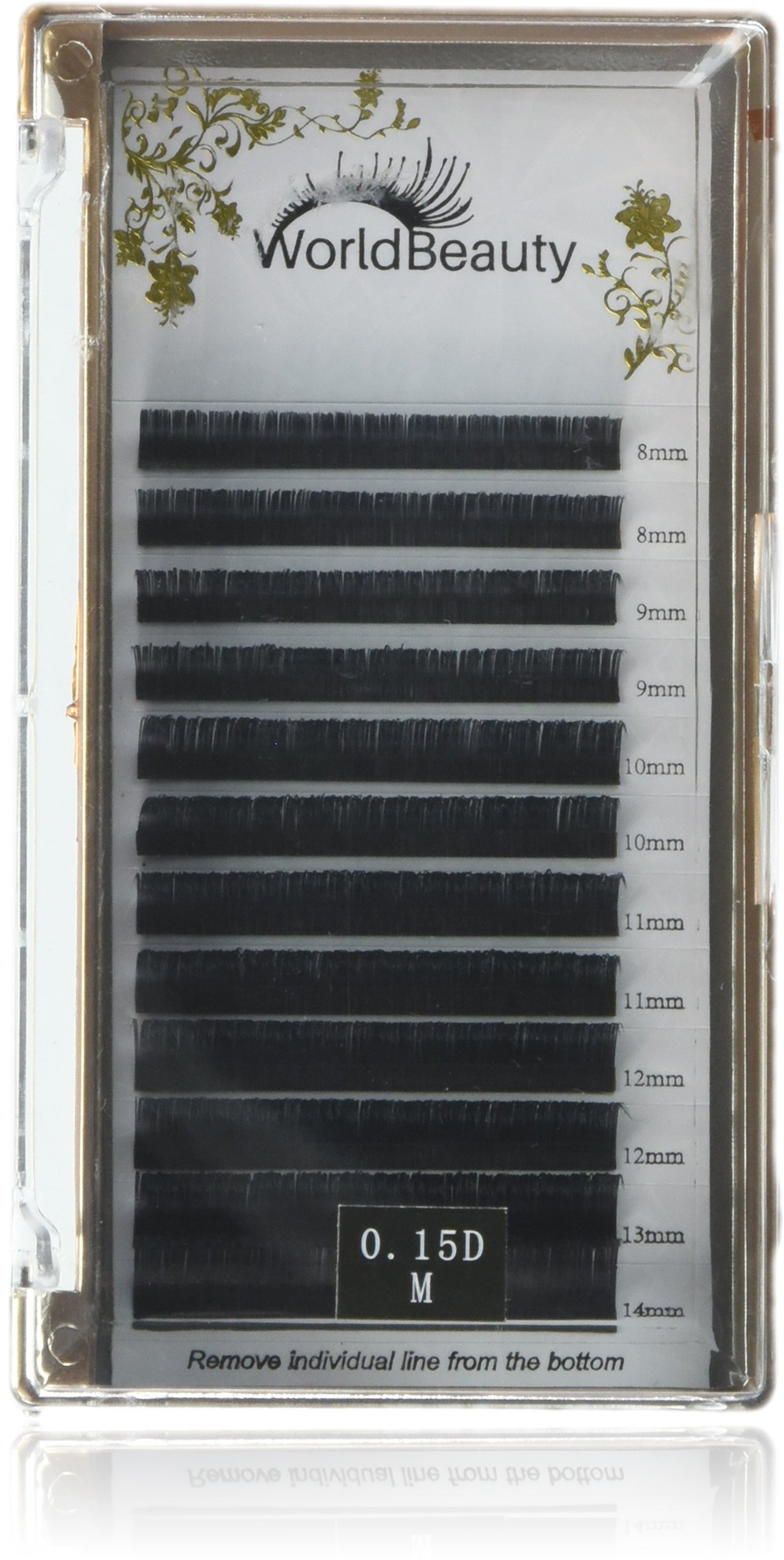 2a0ede32159 Amazon.com : Matte Black Ellipse Flat Eyelash Extensions 0.15mm Thickness D  Curl 8mm to 14MM Mixed Trays No Shiny Matte False Eyelashes for  Professional ...
