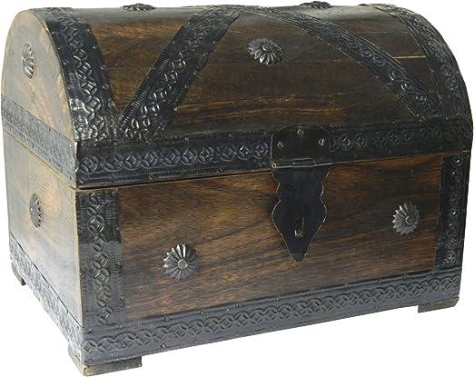 Cofre del tesoro caja de madera cofre pirata aspecto antiguo ...