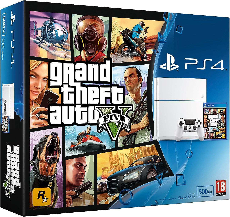 Sony Playstation 4 White 500Gb With GTA V [Importación Inglesa]: Amazon.es: Videojuegos