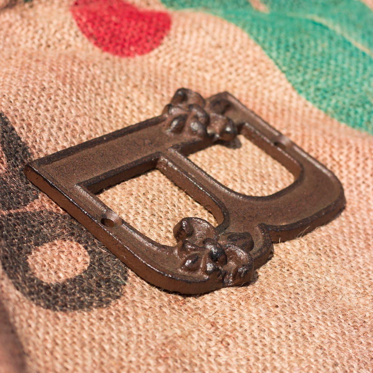 letra B de hierro fundido en dise/ño nost/álgico letra para la puerta de casa Antikas