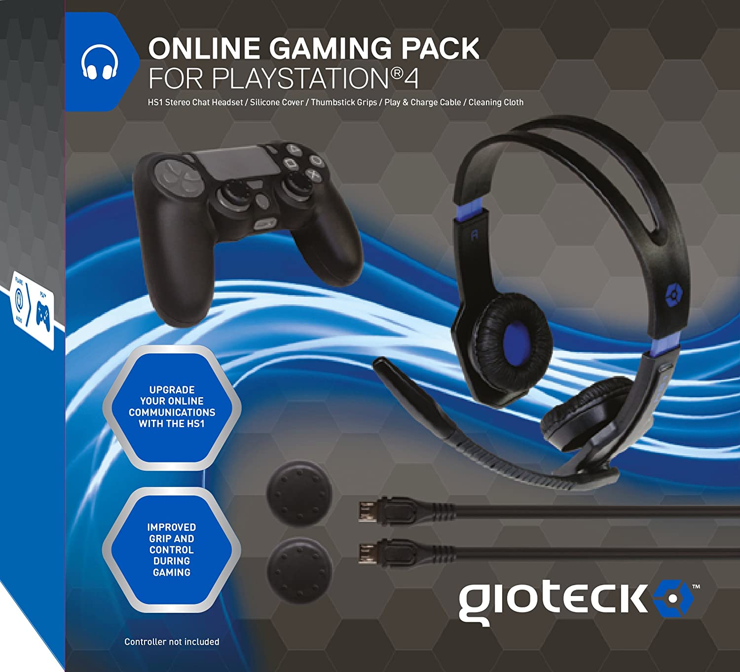 Amazon Com Gioteck Online Gaming Pack For Ps4 Video Games