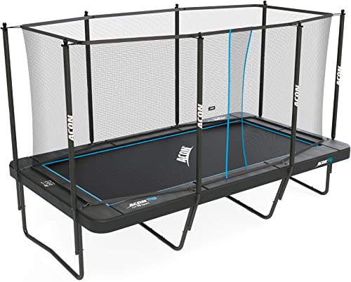 Acon Trampoline Air 16 Sport HD with Enclosure Includes 10x17ft Rectangular Trampoline, Safety Net, Safety Pad and Ladder