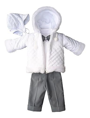 YES Taufanzug Festanzug Jacke Winterjacke Hose Hemd Taufe Baby Anzug Winter Set