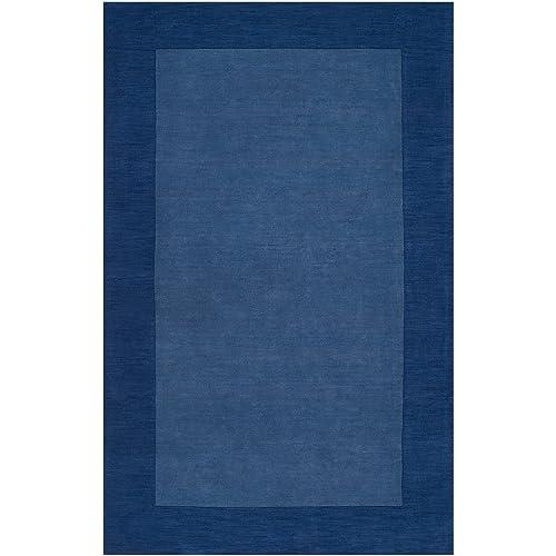 Surya M-308 Mystique Area Rug, 5-Feet by 8-Feet, Blue