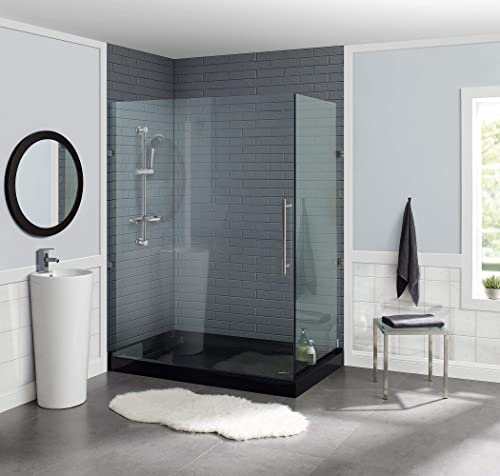 Swiss Madison Well Made Forever SM-SB531 Voltaire 60 x 32 Acrylic Black, Single-Threshold, Right-Hand Drain, Shower Base, 60 x 32