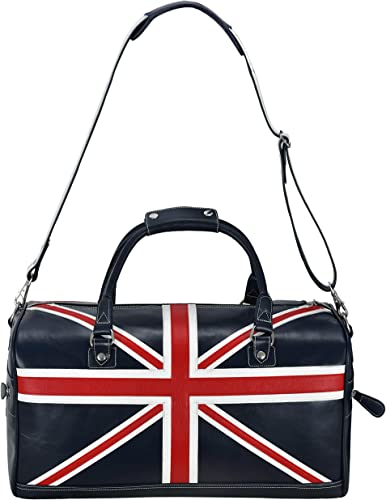 Union Jack Leather Bag Navy Weekend Travelling Holdall Real Leather Produc