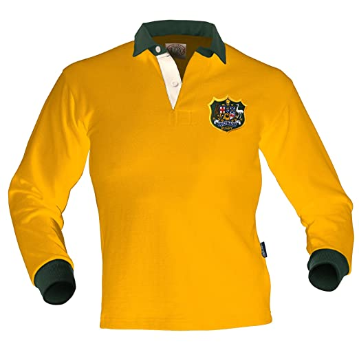 ada61fa49c1 Amazon.com: Australia Old Style Rugby Jersey: Clothing