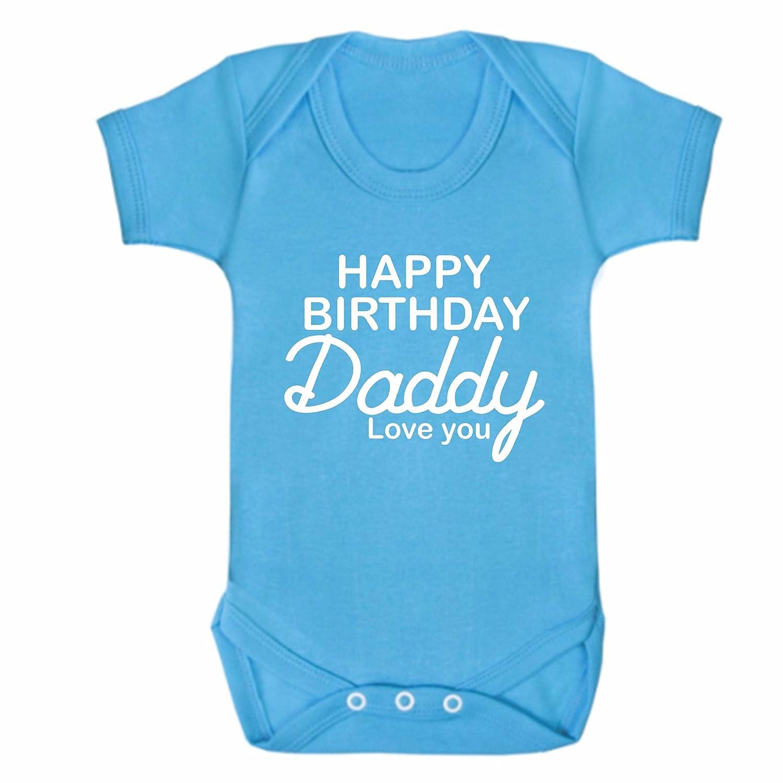 Bullshirt Happy Birthday Daddy Black Short Sleeve Babygrow