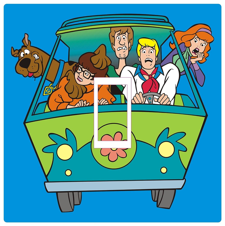 Smarts-Art SCOOBY DOO Light Switch Cover Vinyl Sticker Childrens Room Kids Playroom HD PRINT MYSTERY MACHINE