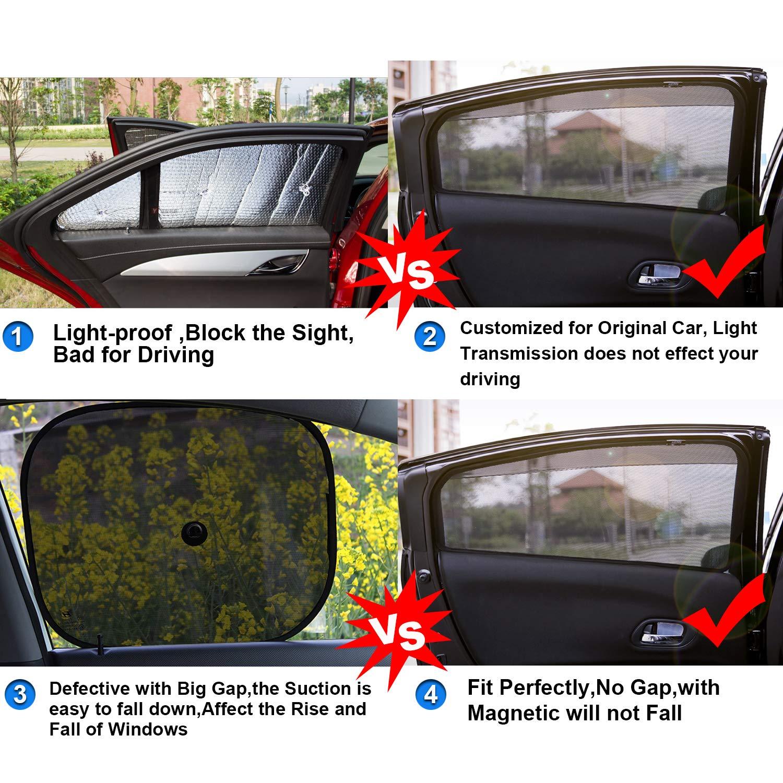 RUIYA Autofenster Sonnenschirm Angepasst f/ür 2017 2018 Compass,Premium Auto Sun Shade f/ür vollen UV-Schutz 6 St/ücke