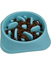 Zenify - Slow Feeder Dog Cat Bowl - Large 500ml Healthy Eating Pet Interactive Feeder with Anti-Skid Non-Slip Grip Base to Reduce Overeating Bloating Vomiting Obesity for Wet Dry Raw Food and Water