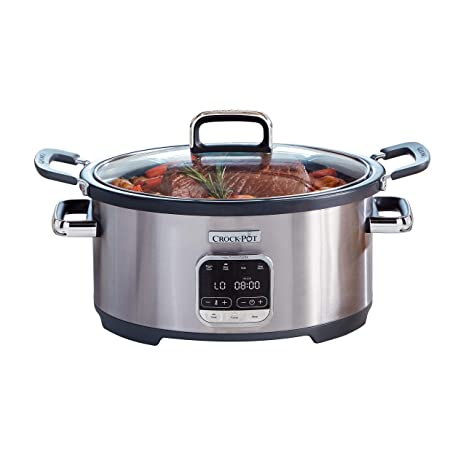 Amazon.com: Crock-Pot SCCPVMC63-SJ - Olla 3 en 1 (acero ...