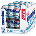 6-Pack Mentos Pure White Sugar Free Chewing Gum (50-Pc Bottle)