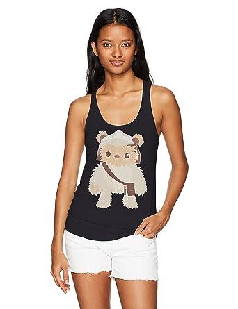 bf37d4ed Amazon.com: Star Wars Women's Ewok Cutie Ideal Racerback Graphic Tank Top:  Clothing