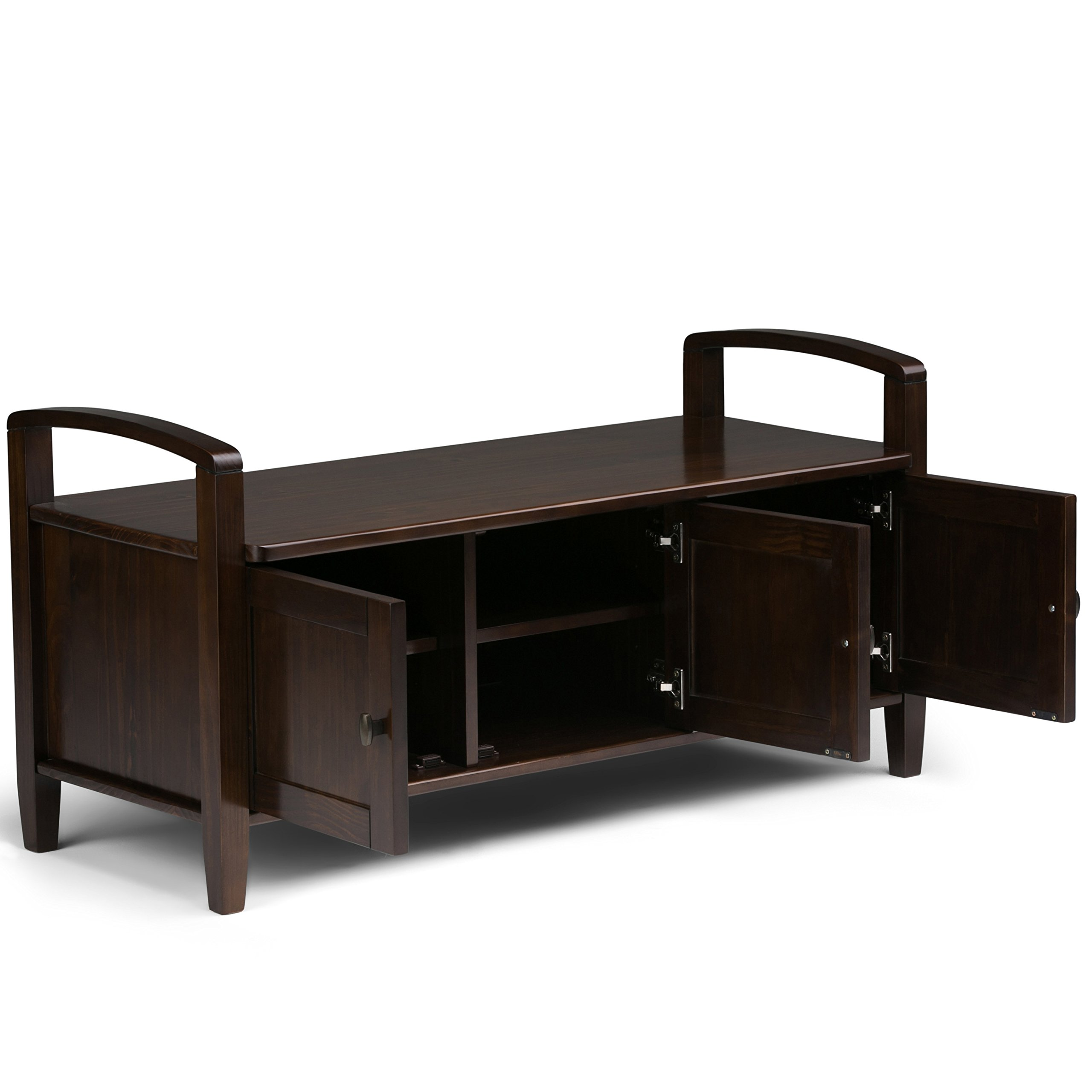 Simpli Home Warm Shaker Solid Wood Entryway Storage Bench, Tobacco Brown by Simpli Home (Image #3)