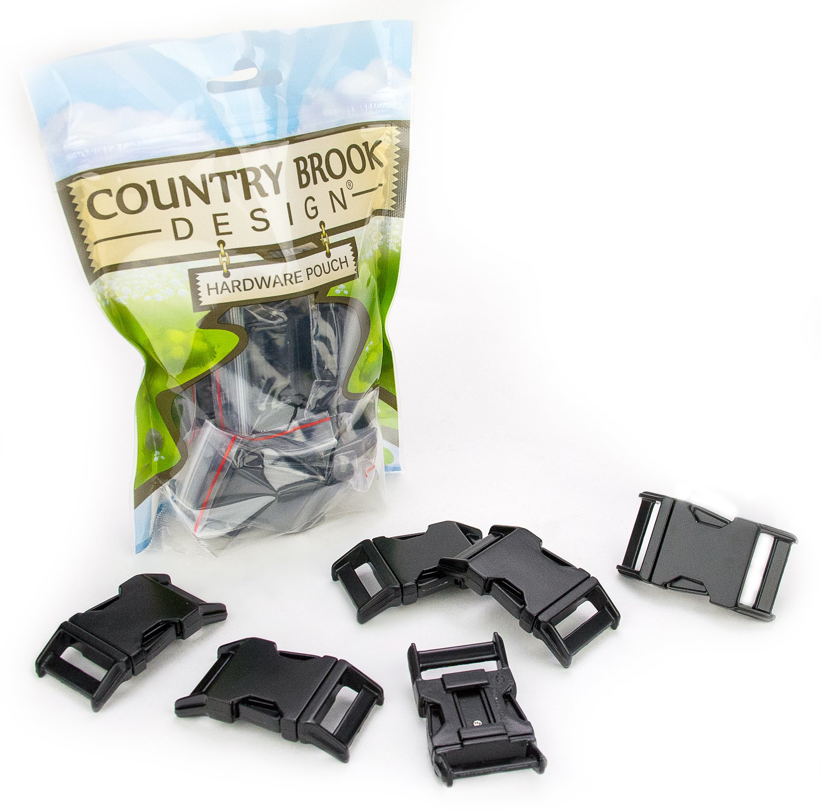 50 - Country Brook Design - 3/4 Inch Black Powder Coated Contoured Buckle by Country Brook Design